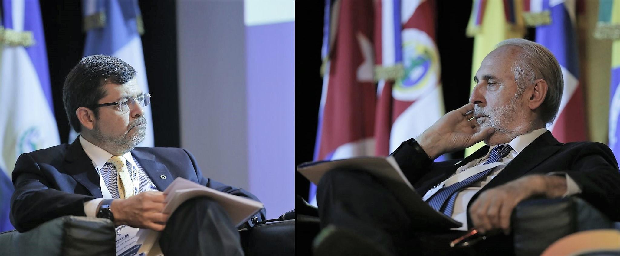 Carlos Chinchilla y Jorge Abbott