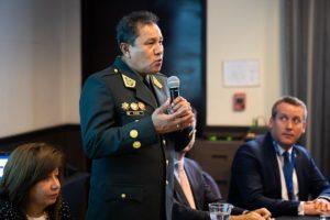 General Luis Vera en la inauguración del seminario sobre delitos medioambientales