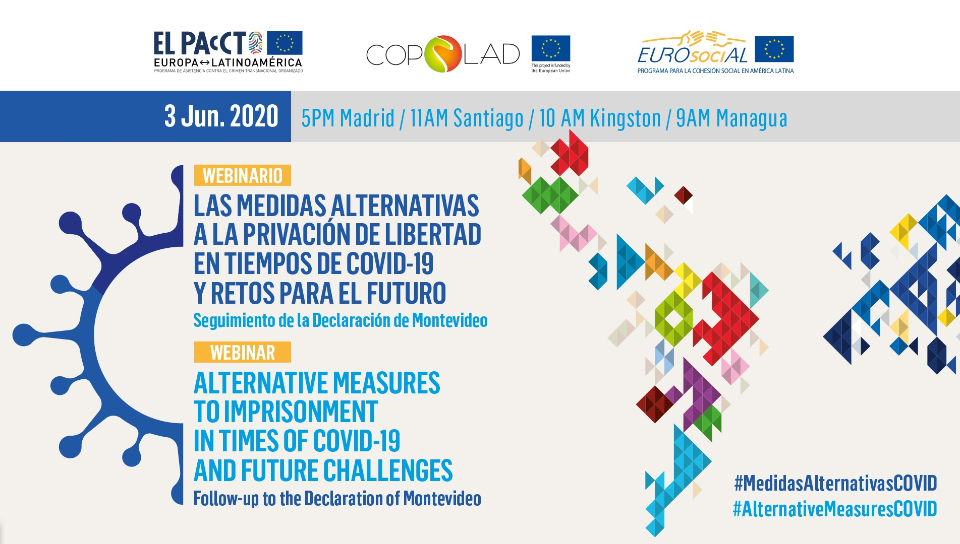 Las medidas alternativas a la prisión: una necesidad para la cooperación ALC-UE en tiempos de COVID-19