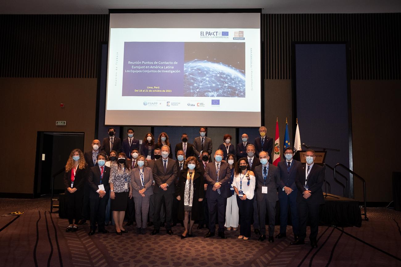 (Español) EL PAcCTO ha reunido a una Delegación de Eurojust con los Puntos de Contacto Eurojust de países de América Latina